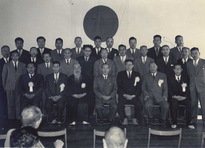 昭和32年5月3日 七尾市文化賞授賞式の記念写真