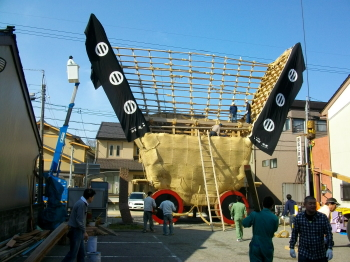 2010年5月3日早朝の魚町のでか山