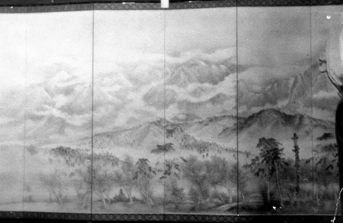 「雪の立山連峰」 茶谷霞畝作品展(昭和35年9月15日・16日 会場:光徳寺)