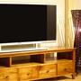 《URABE[うらべ家具店]》【チーク材】インドネシアのシンプル・テレビボード